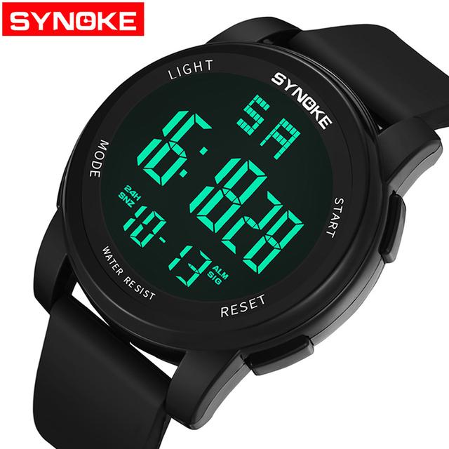 SYNOKE mężczyźni oglądać Sport cyfrowy mężczyzna wojskowy zegarek luksusowe Fitness zegar Wateroroof es Relogio Masculino LED mężczyzna