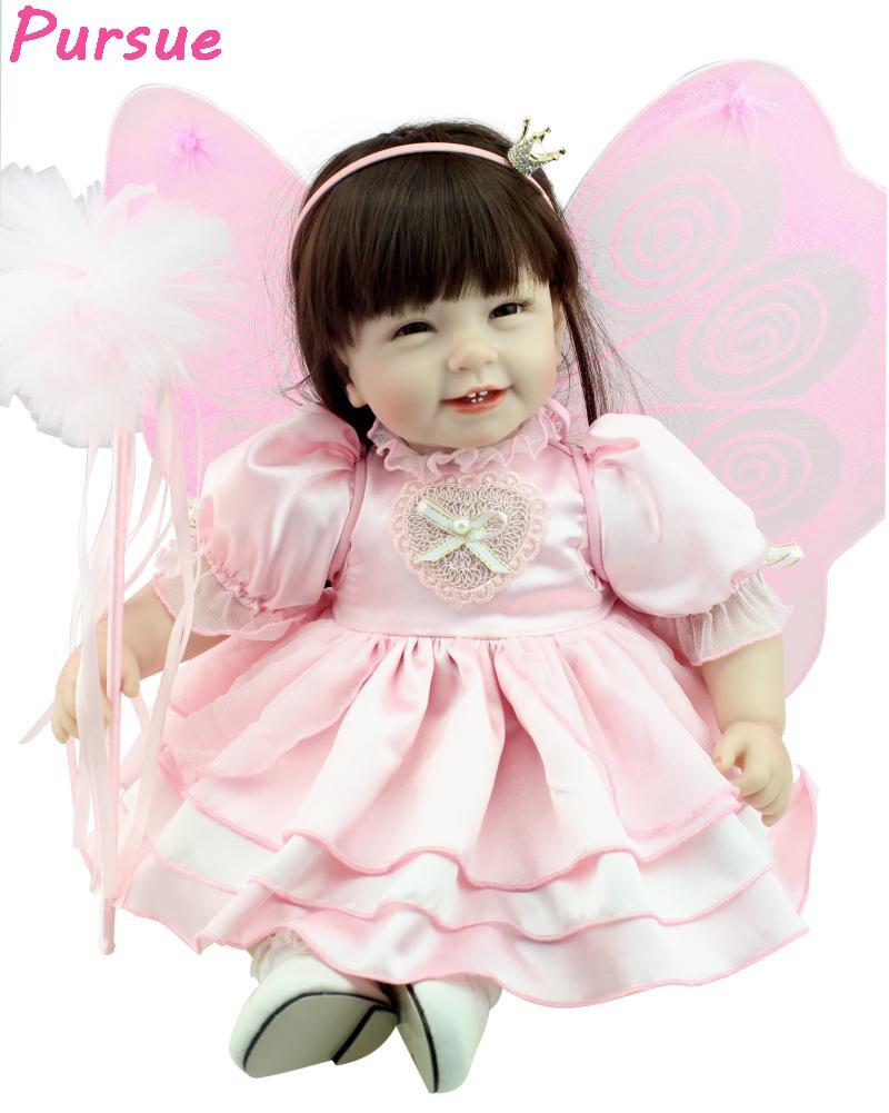 Pursue Reborn Dolls Babies Silicone Baby Princess Dolls for Girls bebes reborns Silicone Reborn Babies Dolls American Girl Doll led телевизор supra stv lc24lt0040w