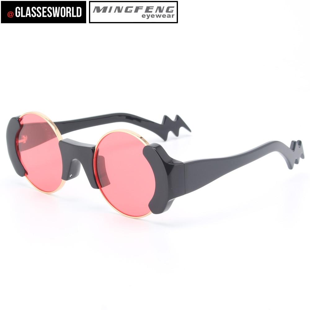 Runde Mit Sonnenbrille Legierung Gute M2207 Qualität Frauen Mode BAZxHZ