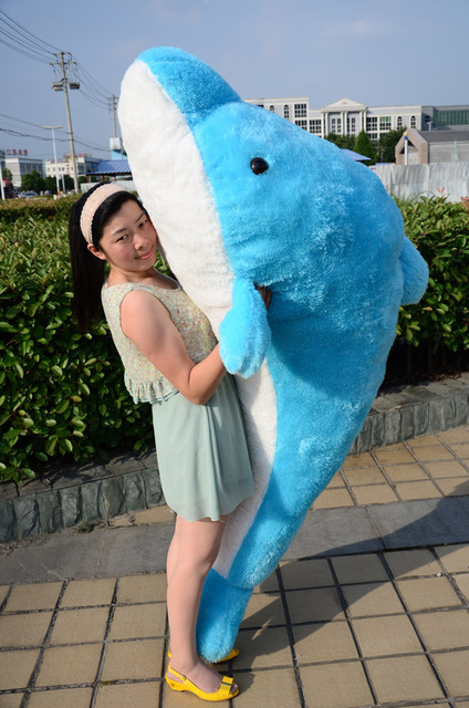 Lovely Plush Toy The Dolphin Toy Stuffed Dolphin Pillow Huge