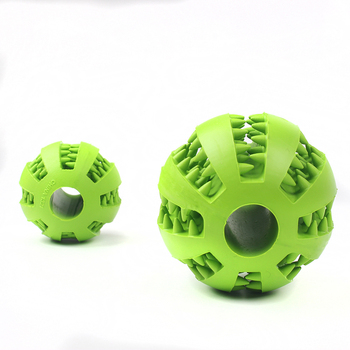Interactive Pet Soft Dog Treat Chew Toy Ball with Extra-tough Rubber 5