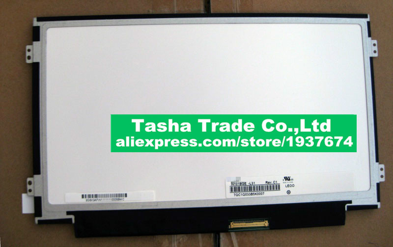 Original New N101BGE N101BGE-L31 Rev.C1 LCD Screen Display Slim Panel WXGA HD 1366X768 40pins Free Shipping