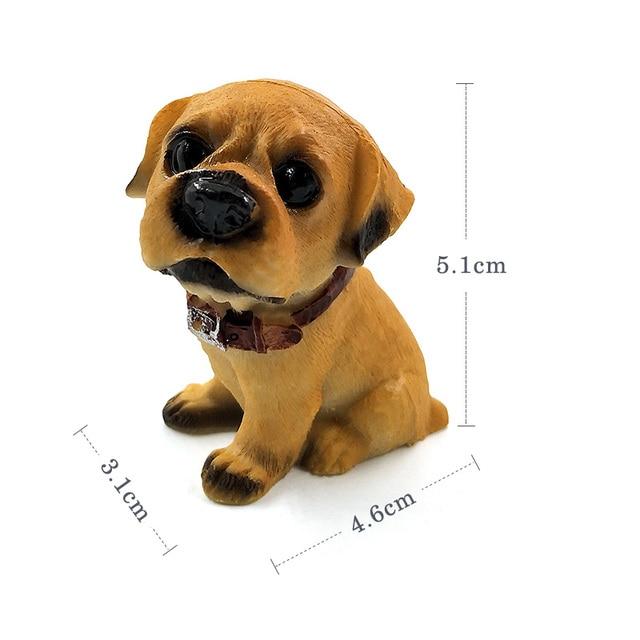 1pc Famous Dogs Model puppy Status Home Office Car ornament Decor Cartoon Figurines People Animal statue resin craft TNJ016 3