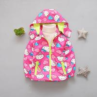 Hello Kitty Jackets Kids Girl Jacket Children Hoodies Spring Autumn Clothes Baby Girl Clothes Windproof Coat