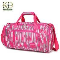 Colorful Women Travel Bag Large Capacity Luggage Travel Duffle Bag Nylon Outdoor Hiking Sport Waterproof Bag