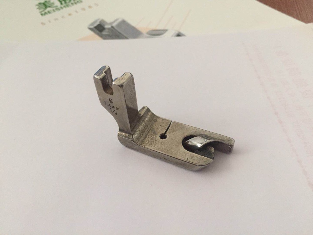 4/1 6.4mm 3/16 4.8mm 1/18 industrial sewing machine hemmer presser foot/feet for Juki Brother Typical Consew Sunstar Jack pfaff