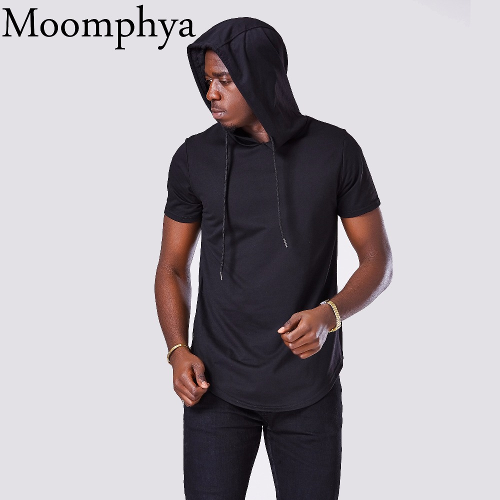 H.Wang Mens Hipster Hip Hop Short Sleeve Hoodies Shirts Pullover