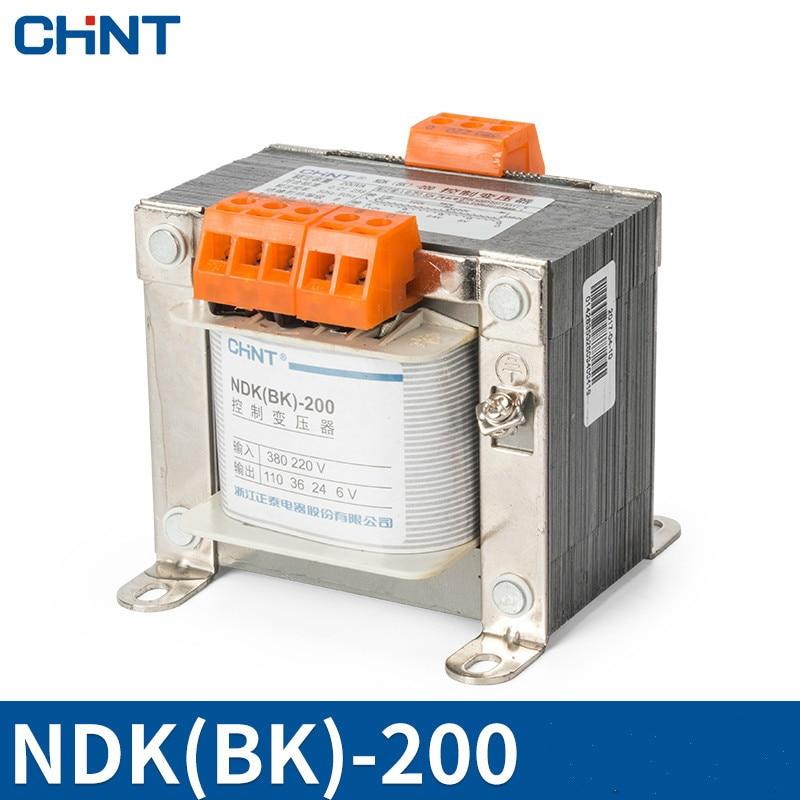 цена CHINT Transformer 200W Control Transformer NDK-200VA 380v 220v Change 36v 24v 110v