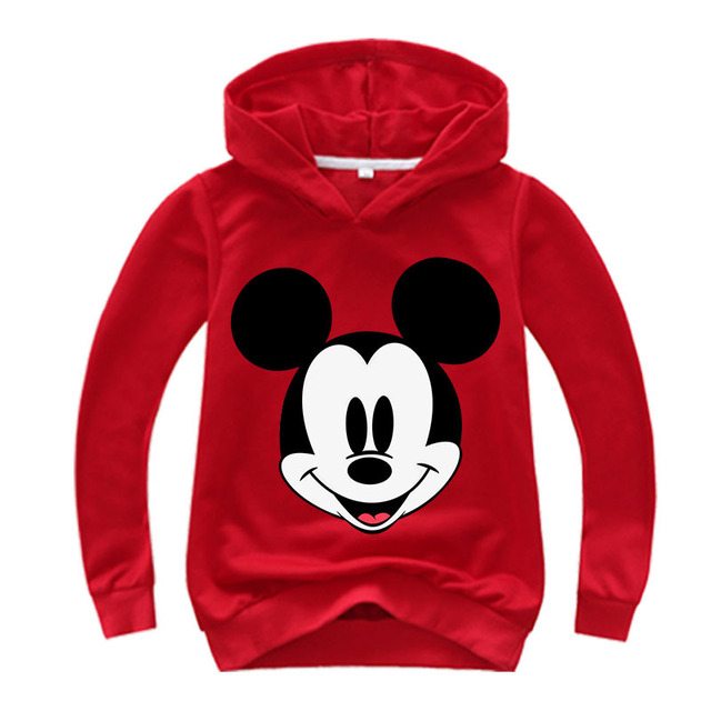 2019 fashion girl autumn coat 2-16 years old 3D printed baby cartoon hoodie big boy sweater red casual children suit grey