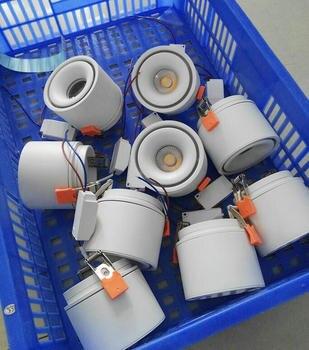 Bombilla Giratoria | 1 Uds. 360 Grados De Rotación LED Downlight 10W 15W Lámpara Empotrada Redonda 240V 110V LED Bombilla Dormitorio Cocina Interior LED Spot Iluminación