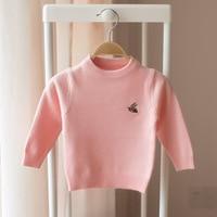 Autumn Winter Baby Girls Sweater Toddler Boys Girls Velvet Knitwear Sweater Cartoon Small Bee Baby Kid