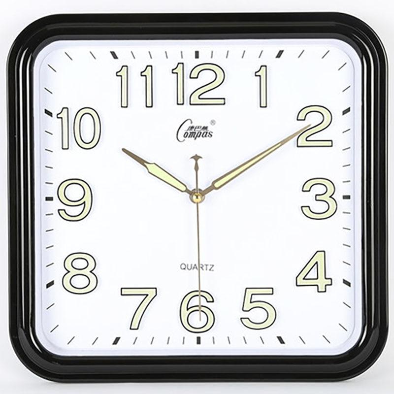 Quartz Mute Square Wall Clocks Creative With Glass Simple Designer Wall Clock Modern Zegar Wall Hanging Clock Living Room 50w037