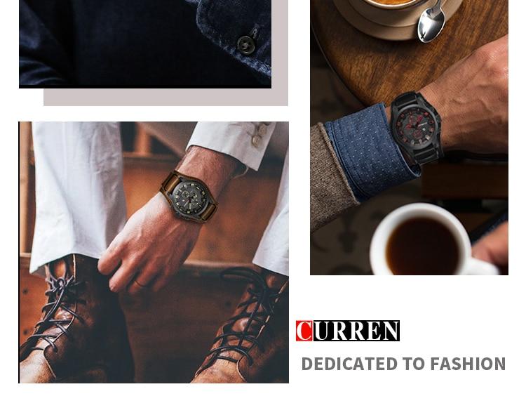 HTB1PahWmRjTBKNjSZFuq6z0HFXaD CURREN Top Brand Luxury Mens Watches Male Clocks Date Sport Military Clock Leather Strap Quartz Business Men Watch Gift 8225