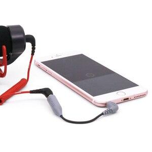 Image 2 - Boya mikrofon TRS TRRS adaptör kablosu yol Videomicro 3.5MM iPhone 7 için 8 X XR XS 11 pro Max Samsung S10 artı