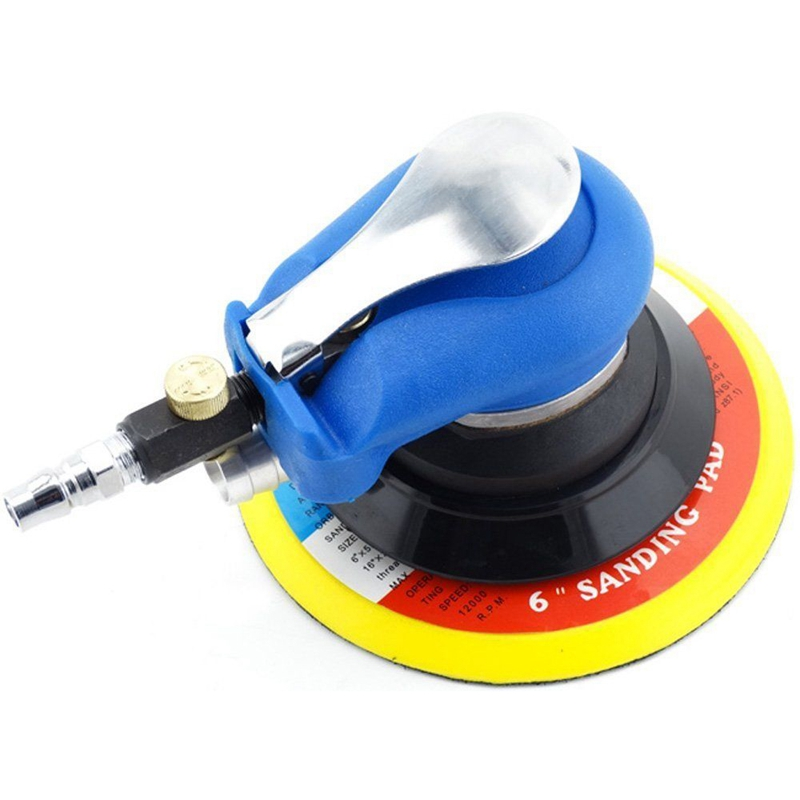 New High Quality Pneumatic Tools 6 Inch Air Sander Random Hand Sanding Pneumatic For Grinding Operations