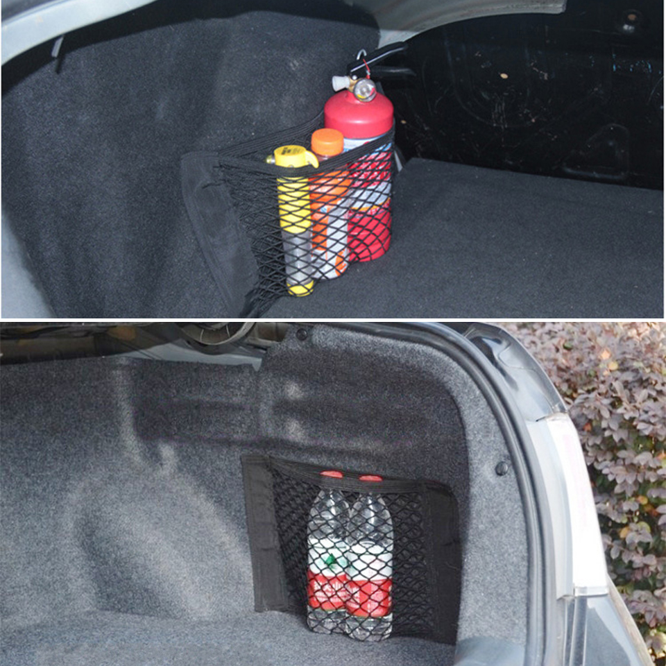 Car Trunk Box Storage Bag Net Accessories Sticker For Peugeot 307 308 407 206 207 3008 406 208 2008 508 408 306 301 106 107 607