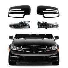 Left Right Rearview Wing Mirror Cover LED Turn Signal Light For Benz A B C E S Class W176 W246 W204 W221 GLA CLA C117