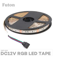 DC12V Lampu LED RGB Strip SMD5050 Tahan Air Fleksibel Pita LED untuk TV Backlight, Di Bawah Kabinet Lemari Ringan dan DIY(China)
