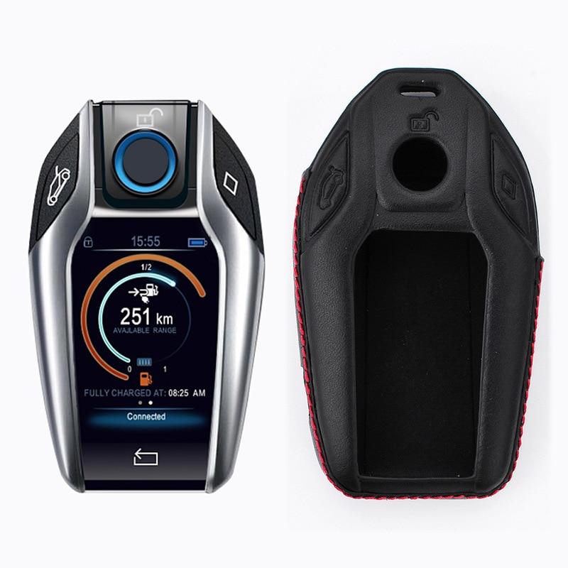 For BMW 7 Series 730Li 740Li 750Li 760Li 2017 2018 Protective Leather Key Case Holder Cover