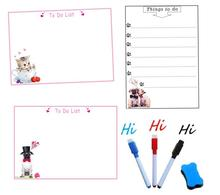 A4 Size Magnetic Whiteboard Fridge Magnets Dry Wipe Marker Eraser Message Board Reminder Memo Pads Daily Week Planner To Do List