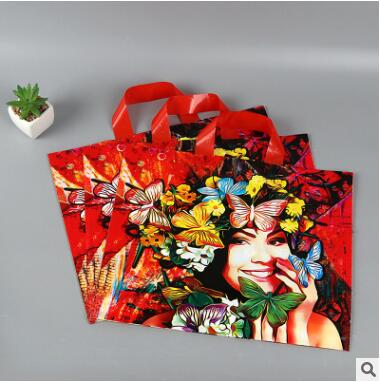 12Pcs PASAYIONE PE Plastic Handbags Chinese Traditional Style Gift Bags For Shopping Clothes Packaging For Mini Jewelry Decor