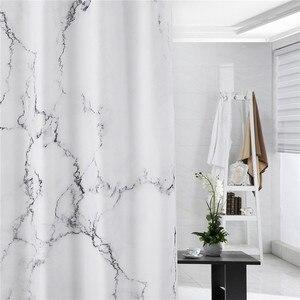 Image 3 - Cortina de ducha de fácil limpieza de 180x180cm, cortinas de baño, cortina de ducha a prueba de agua, sin olor químico reforzado
