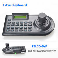 3D 3 Axis PTZ Joystick PTZ Controller Keyboard RS485 PELCO D P W LCD Display For