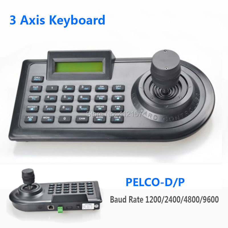 3D 3 Axis PTZ Joystick PTZ Controller Keyboard RS485 PELCO-D/P W/LCD Display For Analog Security CCTV Speed Dome PTZ Camera снпч brother dcp j715w картриджи lc 1100bk lc 1100y lc 1100m lc 1100c
