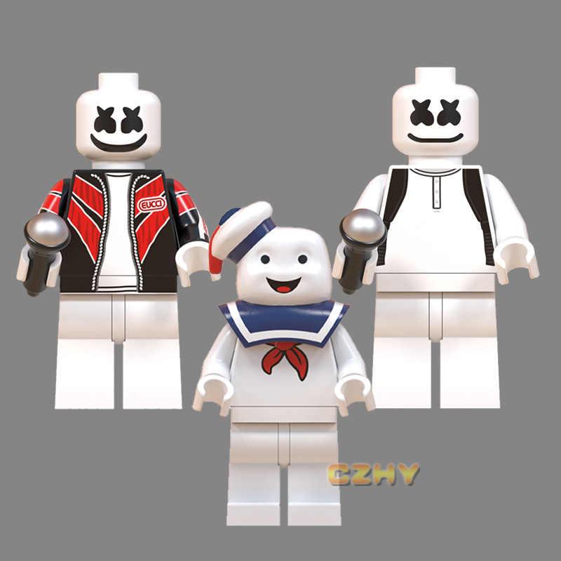 DJ Marshmallw Figura Ponto Elliott ET Angie Gremlins Gizmo Stay Puft Faixa Blocos de Construção Presentes Brinquedos Infantis MG0183 Beijo