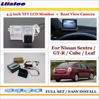 Liislee For Nissan Sentra / GT R / Cube / Leaf Car Reverse Rear Camera + 4.3 TFT LCD Monitor = 2 in 1 Parking System