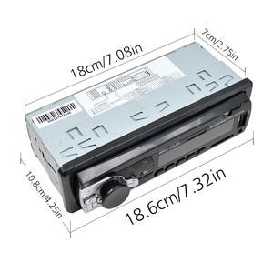 Image 4 - Radio de coche, reproductor de MP3 Digital para coche, receptor estéreo con Bluetooth incorporado, llamadas manos libres, 1 din, entrada de tarjeta SD auxiliar USB