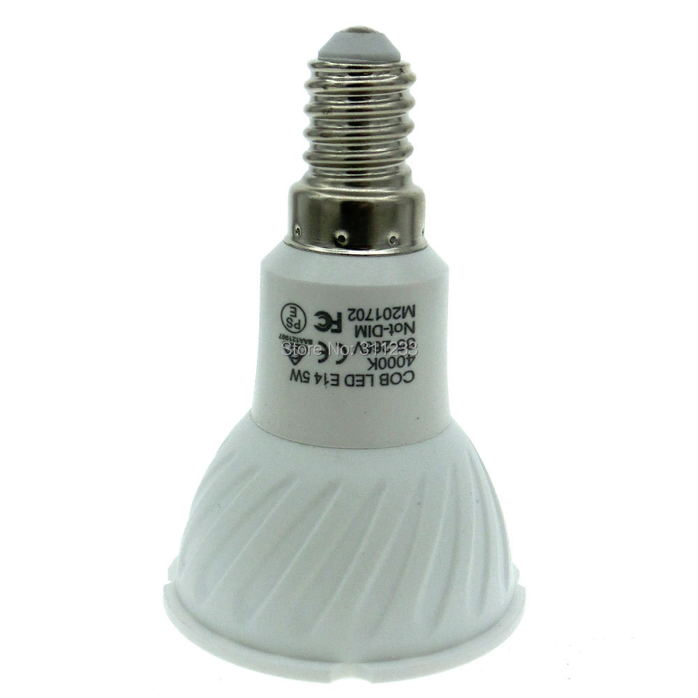 Lâmpadas Led e Tubos 5 w mini parafuso branco Eledison E14 Led Spot Light Bulb : 5w Led=50w Halogen Bulb