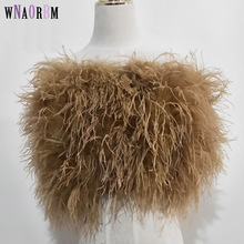 Fur Coat Underwear Skirt Ostrich-Hair-Bra Women's 100%Natural New Mini