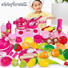 46pcs Set Mini Baby Kitchen Set Toys Kitchen For Children Pretend Play Miniature Fruit Food Vegetable