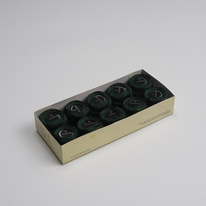 Размер 8 жемчужная хлопковая нить для вышивки крестиком 43 ярдов(5 грамм) на шарик Двойной Мерсеризованный длинный штапельный хлопок 10 шариков в цвет - Цвет: 873