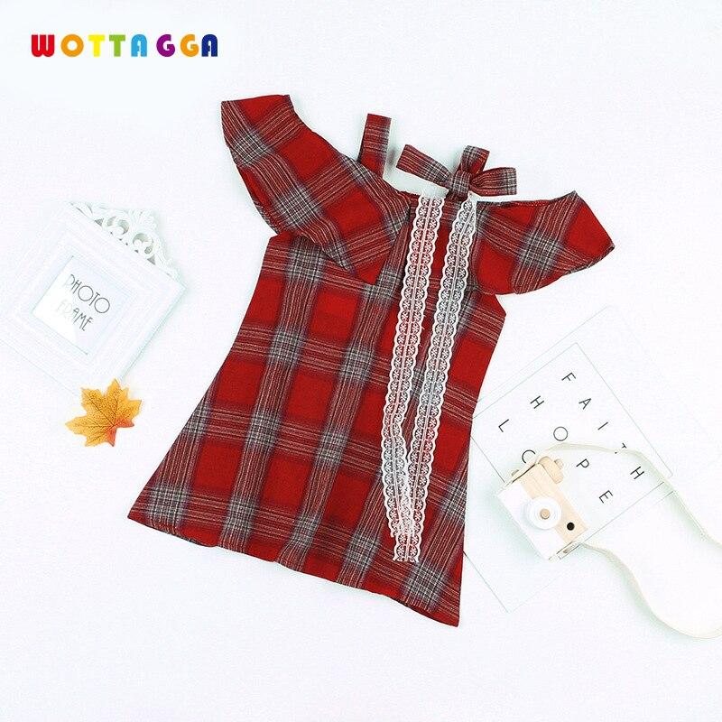 WOTTAGGA 2019 Baby Girl Dress Summer Striped Princess Dresses For Girl Children Kids Beachwear Party Sundress Clothes