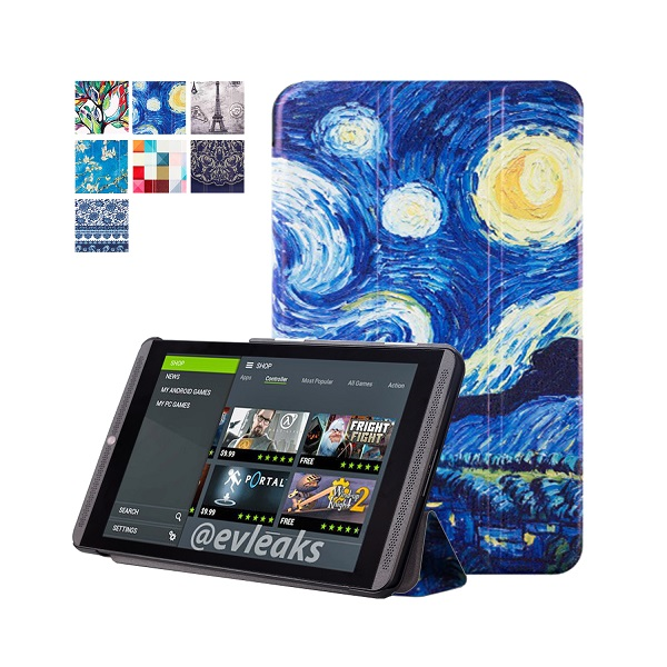 Painting PU leather cover case protective shell cover case skin for nvidia shield 2 tablet 8.0/for Nvidia shield K1 tablet image