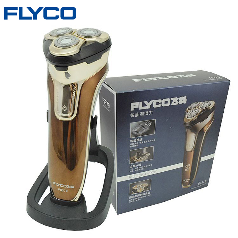 Flyco 3D floating head Rechargeable Portable body washable Electric Shaver Led Light Fast Charge Triple Blade barbeador FS379 be first bcaa be first 2 1 1 powder 250гр