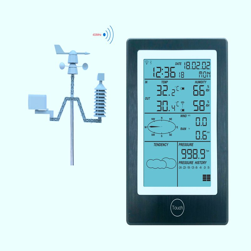Professional WiFi Weather Station Wireless APP Thermometer Hygrometer Rainfall Pressure Wind Speed Direction Weather Forecast