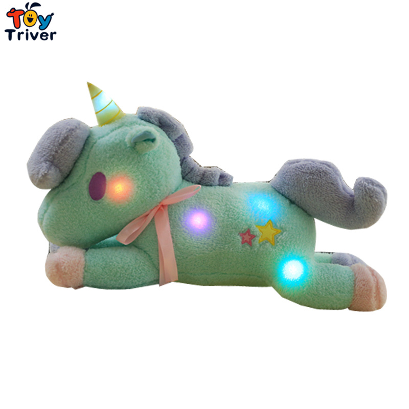 LED light up toys Luminous Unicorn Toy Glow light Plush