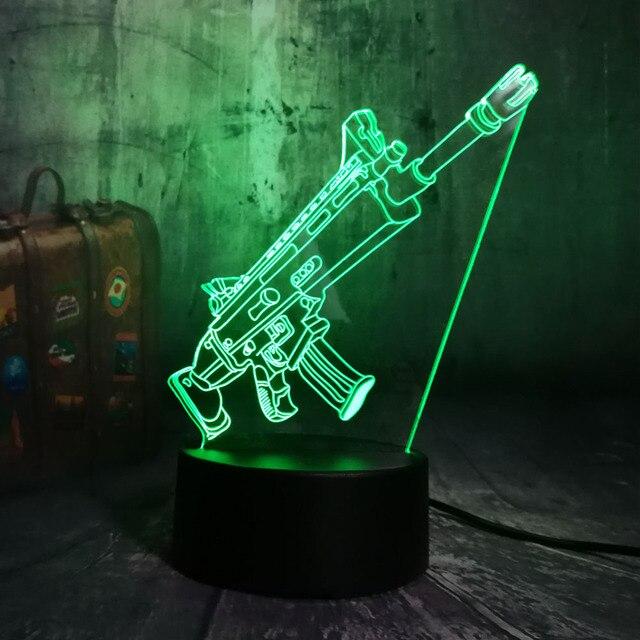 PUBG LED Night Lamp (7 Colors)