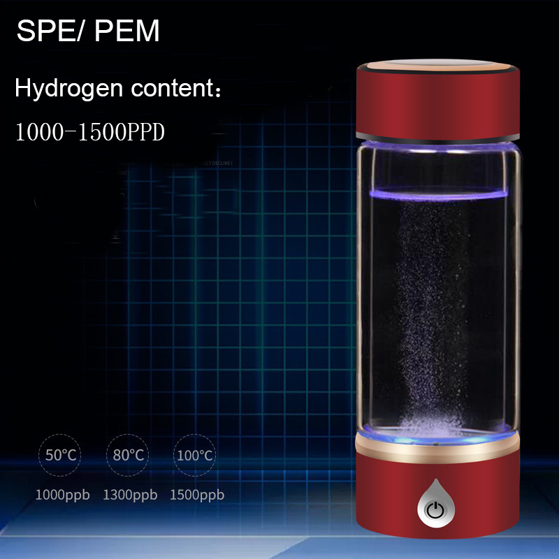 1 New SPE PEM Hydrogen Rich Generator Water Ionizer Bottle with Drain Hole Seperate H2 and