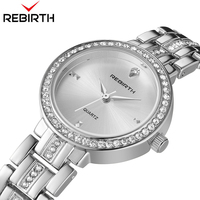 Top Brand Rebirth RE094 Japan Movement Women S Elegant Watches Fashion Designer Girls Popular Quartz Analog