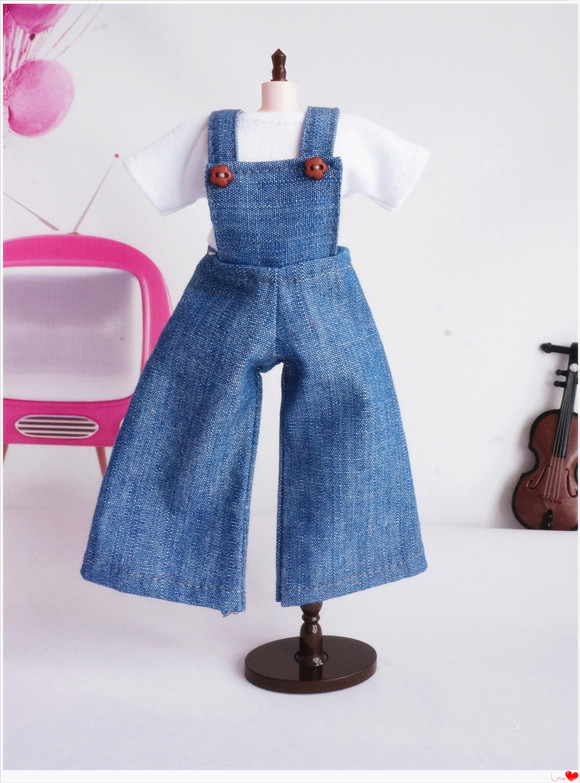 New Design Doll Clothes Doll Bib Doll Pants (suitable for blyth, Licca, Momoko, Azone,Pullip, 16 Doll) BB003