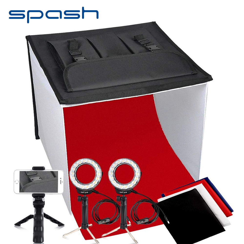 spash K40II Portable Studio Light Box Foldable Softbox Shooting Tent LED Photo Box 40cm 3200K 9000K