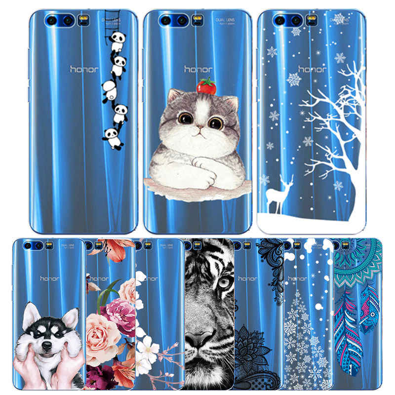 Arvin Transparet Case for Huawei Honor 9 Silicone Cover for Honor 7A 7C 7X 8X Painting TPU Honor 10 9 lite V9 V10 Play Fundas