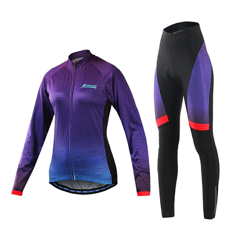 Hot Sale Breathable Long Sleeve Cycling Jersey Sets Quick Dry Bicycle Sportswear Cycling Clothings Size S To XL