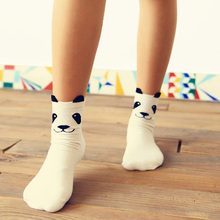 1Pair Hot Cute Unisex Men Women 3D Printed Lovely Cartoon Pandas Socks Cotton Ankle-High Spring Autumn Socks