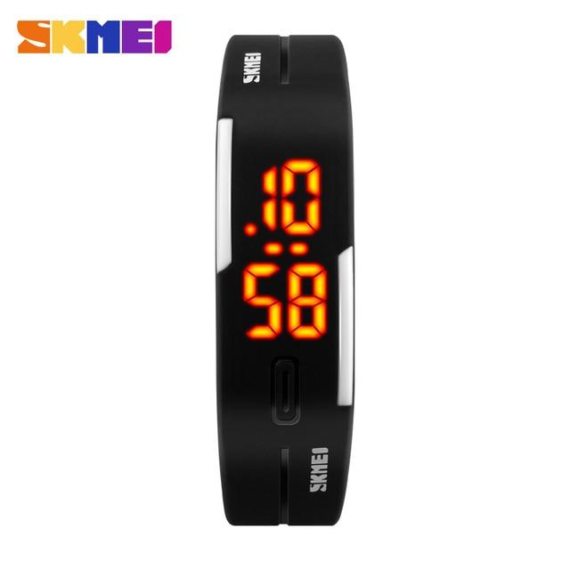 2016 Новый Skmei Марка Молодых Мужчин И Женщин Спортивные Часы Мода Плавать Часы Повседневная Желе Цифровой Наручные Часы