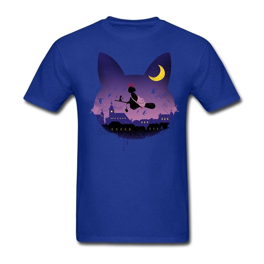 Custom Design Midnight Cat Stroll Man Gifts t shirt Christian Tee Shirts Shop Male Purple Costumes